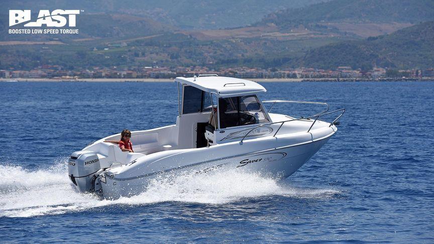Honda 80HP 4 Stroke Outboard Motor Electric, Remote, Power Tilt -  Long/Extra Long Shaft