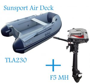 Sunsport Air deck 230 Inflatable & Mariner F5 MH